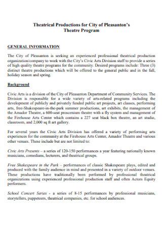 Theatre Program Proposal