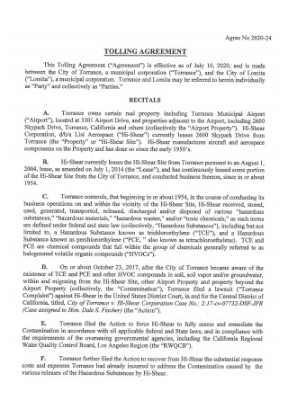 Tolling Agreement Format