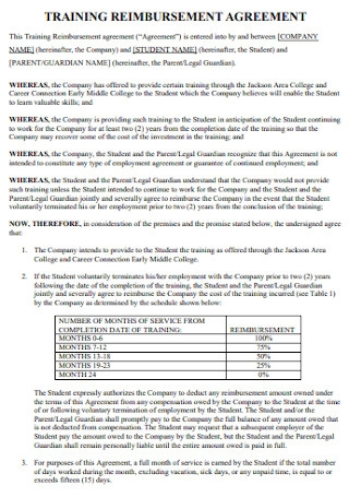 Training Reimbursment Agreement