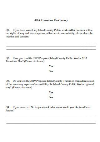 Transition Plan Survey