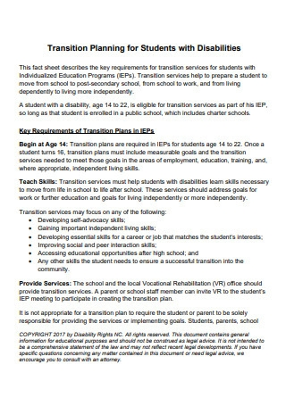 Transition Planning for Students with Disabilities