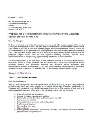 Transportation Impact Analysis Proposal