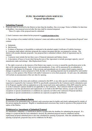 Transportation Services Proposal