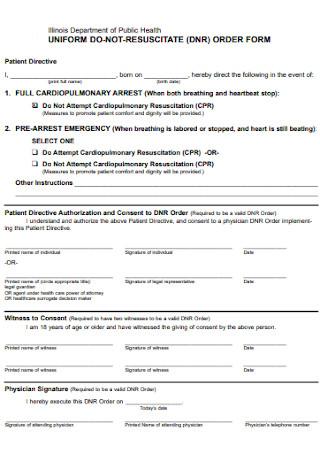 Uniform DNR Order Form