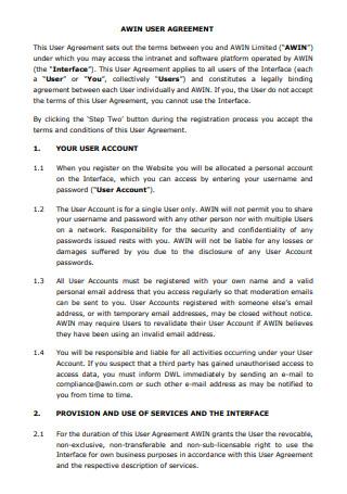 User Agreement Template