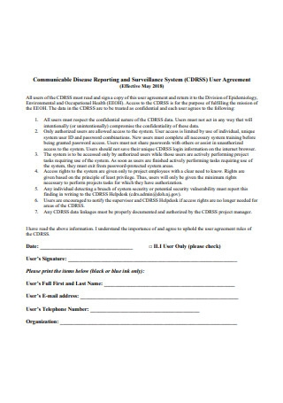 User Agreement in PDF