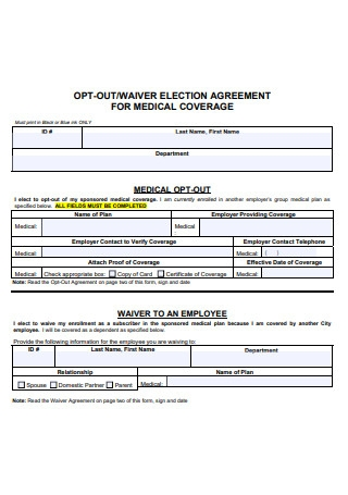 Waiver Election Agreement