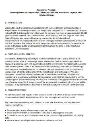 Washington Electric Cooperative Proposal
