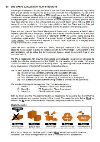 Waste Management Structure Plan