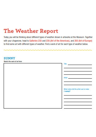 Weather Report Format