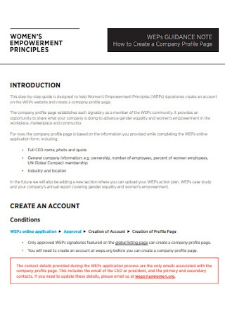 Women Empowerment Company Profile