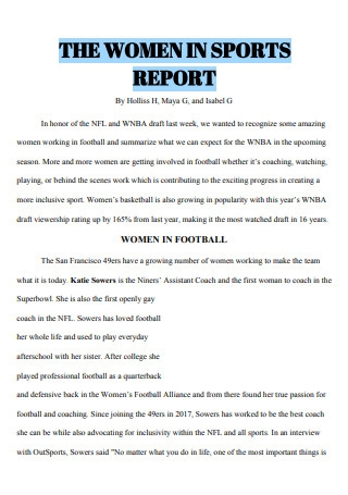 Women in Sports Report
