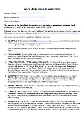 Work Study Training Agreement