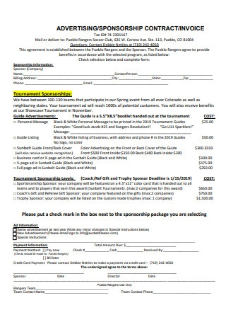 Advertising Sponsorship Contract