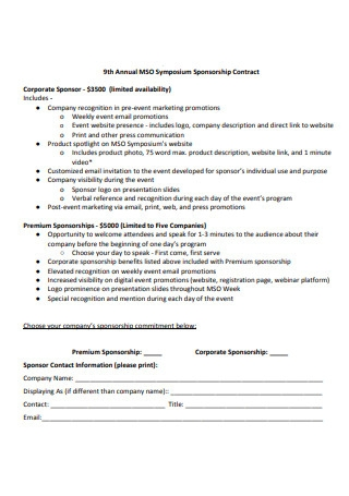Annual Sponsorship Contract