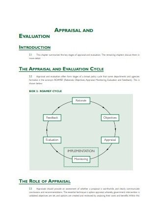 Appraisal Evaluation Example