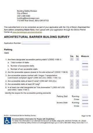 Architectural Barrier Building Survey