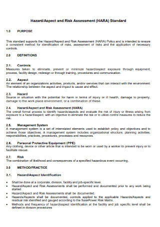 Aspect and Risk Assessment