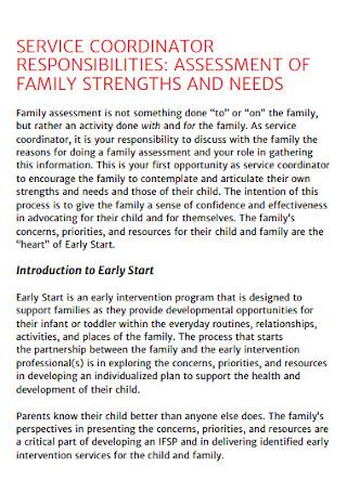 Assessment of Family Strenths