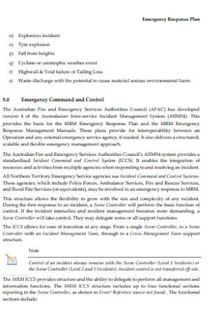 Basic Emergency Response Plan