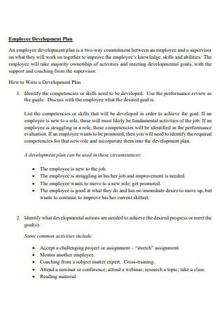 Basic Employee Development Plan