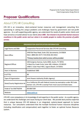 Basic HR Consulting Proposal