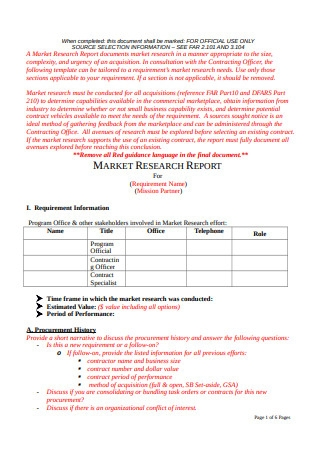 Basic Market Research Report