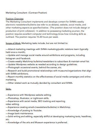 Basic Marketing Consultant Scope of Work