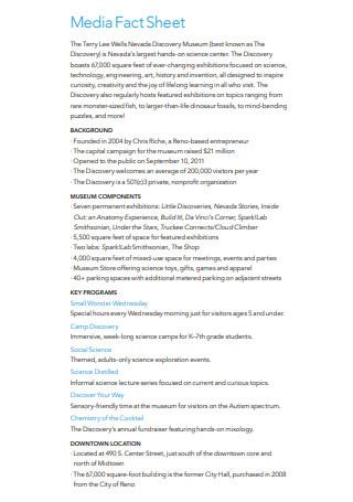 Basic Media Fact Sheet