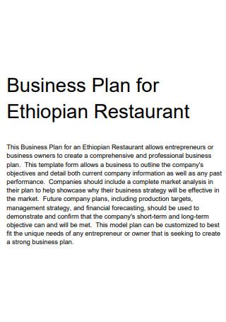 Basic Restaurant Business Plan