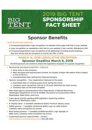 Big Tent Sponsorship Fact Sheet