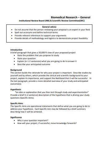 Bio Medical Research Proposal