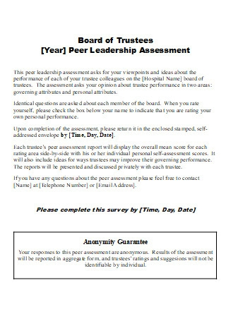 Board of Trustees Leadership Assessment