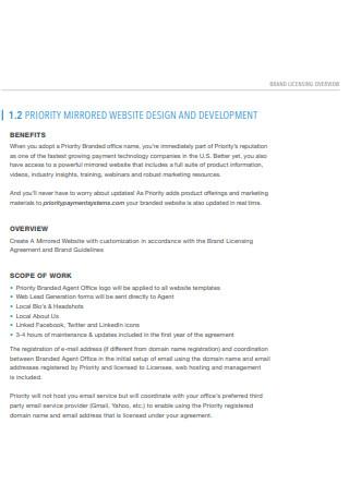 Brand Licensing Scope of Work