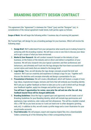 Branding Design Contract Scope of Work