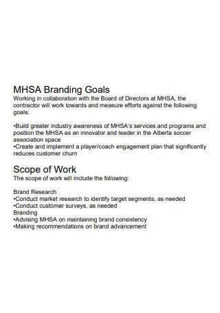 Branding Goals Scope of Work