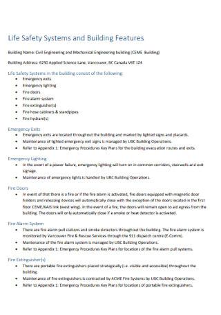 Building Emergency Response Plan