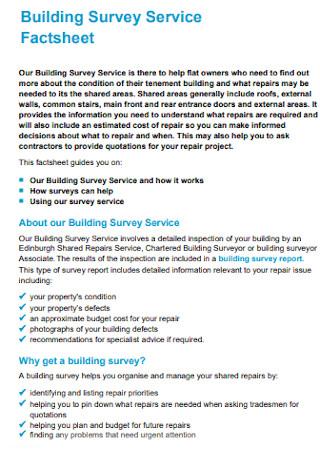 Building Survey Service Factsheet