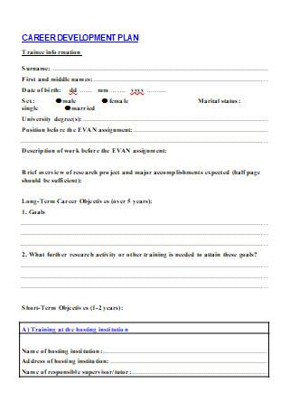 Career Development Plan in DOC