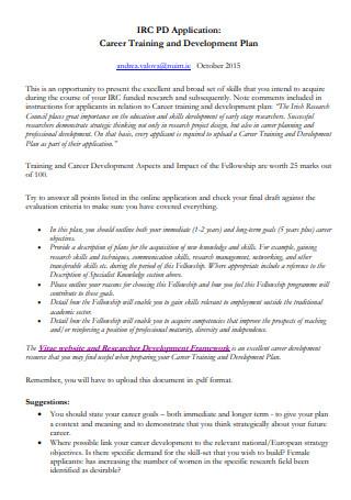 Career Training and Development Plan