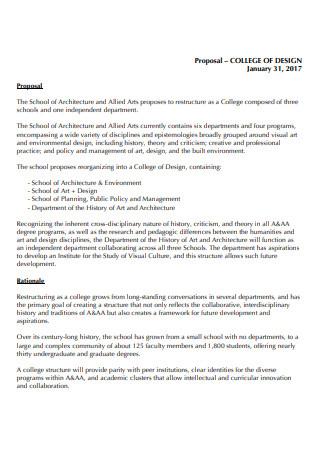 College Interior Design Proposal
