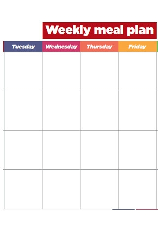 College Weekly Meal Plan