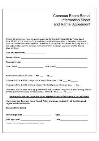 Common Room Rental Agreement