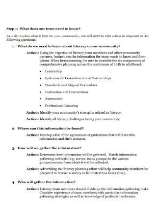 Community Based Literacy Needs Assessment