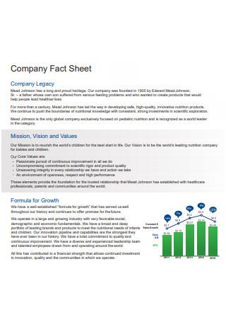 Company Legacy Fact Sheet
