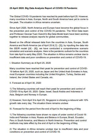 Covid 19 Data Analysis Report