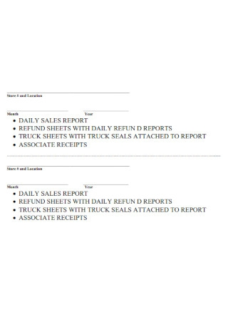 Daily Sales Report in PDF