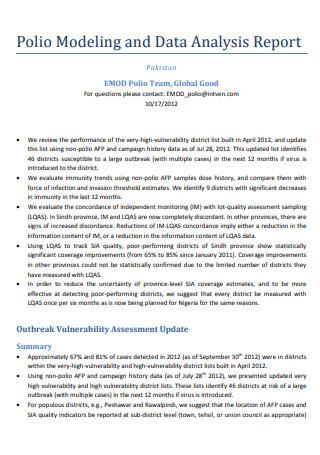 Data Analysis Report in PDF