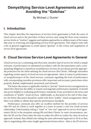 Demystifying Service Level Agreement