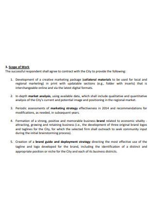 Development Marketing and Branding Scope of Work